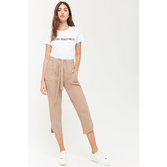 Forever 21 Pants - F21 Cropped Linen Pants